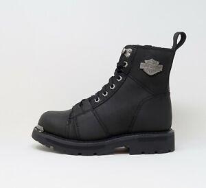 HARLEY DAVIDSON Sperling Oily Leather Black Men Boots