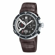 CCCP AKULA CHRONOGRAPH DATE BROWN LEATHER STRAP MEN'S WATCH CP-7005-01 NEW