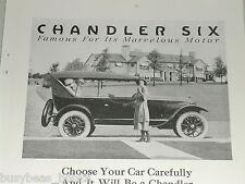 1921 Chandler Motor Car Co. advertisement, Chandler Six