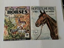 Vint.Horse Books How To Draw Horses/ Horses Heads In Oils And Pastels W.T.Foster