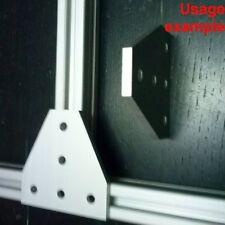 Aluminum T-slot 20x20 profile 5-hole T-join flat connect 60x60x4mm plate, 4-pcs