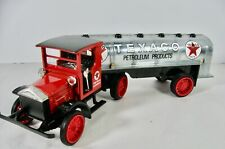 ERTL1920 TEXACO PIERCE ARROW CAB WITH TANKER DIE-CAST METAL COIN BANK WITH BOX