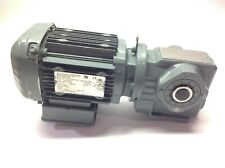 SEW SA37 DRS71M4 Eurodrive Gear Motor 1690/59 RPM 3PH 80ft/Min 20mm Shaft
