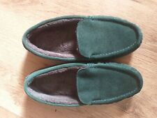 Excellent Condition Lands End Suede Moccasin Slippers Size 40 UK 6.5