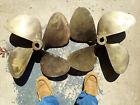 """matching pair 23"""" diameter 4-blades vintage brass propellers McClean 29lbs/each"""