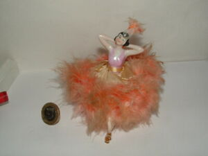 Flapper pin cushion half doll fully dressed with legs