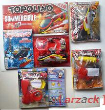 lotto 4 TOPOLINO 2797 - 2800 blisterati con gadget SOMMERGIBILE di DOUBLEDUCK
