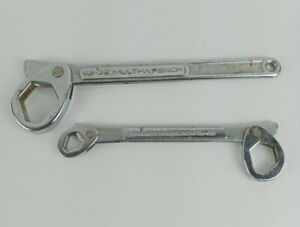 """Vintage 2 Drop Forged Steel Multi Wrench 23-32 13/16""""/ 1 1/4"""" and 3/8-13/16"""