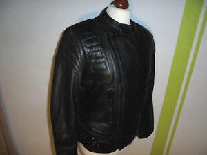 vintage 80`s Motorrad Lederjacke Bikerjacke punk rocker oldschool Jacke 48 S/M