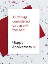 joke anniversary card - funny anniversary card - funny wedding anniversary