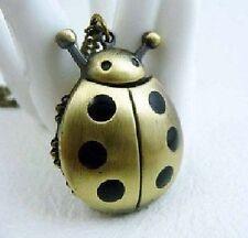 Orologio da tasca Coccinella Bug nero Pois color oro