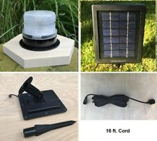 Solar Revolving Beacon for Lawn Lighthouses. Remote Solar Panel Dusk to Dawn.
