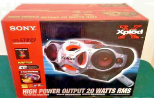 Sony Xplod (CFD-G700CP) CD PLAYER & AM/FM Radio & Cassette PLAYER  Boombox