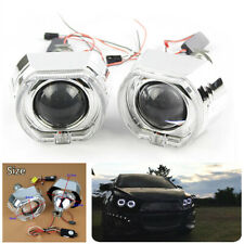 "2X 2.5"" LED Angel Eyes Halo DRL Bi Xenon Projector Lens For H4 H7 Car Headlight"