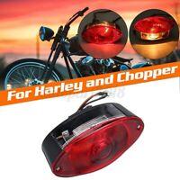Moto Fanale Posteriore Faro Fanalino Luci Cat Eye Luce Targa Lampada Per Chopper