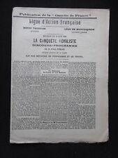 """Journal ancien LIGUE D'ACTION FRANÇAISE """"La conquête Royaliste"""" Juin 1906 ROBAIN"""