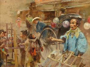 Robert Frederick Blum China Town Market    Wall Art  Canvas