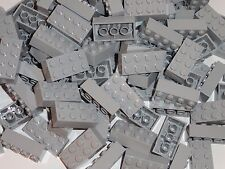 NEW LEGO Light Bluish Gray 2X4 Bricks Bulk Lot of 100 Pieces 3001 Free Shipping