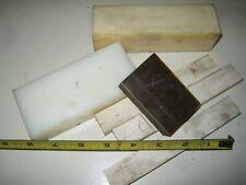 New listing Lott of Delrin Pvc Nylon machinable plastic bar stock Various Sizes