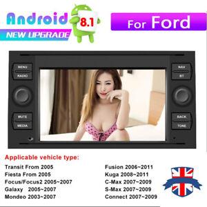 Fit Ford Transit Mk7 Head Unit Android 8.1 Car Radio Stereo GPS Sat Nav WiFi BT