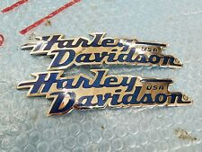 Harley Davidson tank emblems chrome & blue