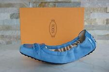 TODS TOD'S N. 36,5 Ballerine Slipper Scarpe Basse Scarpe Blu Nuovo UVP 298 €