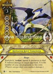 Warhammer Invasion LCG - 1x Repeater Bolt Thrower  #027 - Path of the Zealot