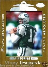 "Vinny Testaverde 99 Absolute SSD ""Coaches Collection-Silver"" #123 349/500 Jets"