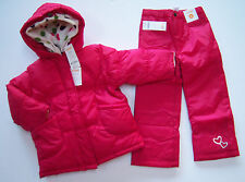 NWT Gymboree Pups and Kisses 3-in-1 Coat Jacket XS 3-4 Heart & Snow Pants 4/4T