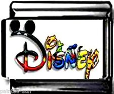 DISNEY WORD w CHARACTERS 9mm Italian Photo Charms for nomination style bracelets
