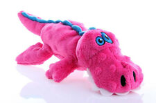 "GODOG SHERPA GATOR PINK W/CHEW GUARD 11""X5""X2"" PLUSH TOY. FREE SHIP TO THE USA"
