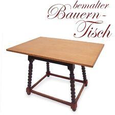 antiker Jogltisch provinzieller Tisch Landhausmöbel bemalt mit neuer Platte