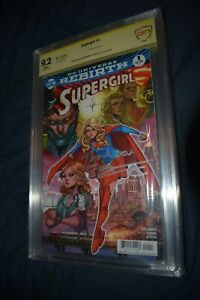 Supergirl #1 Rebirth CBCS SS 9.2 Signed Artist Orlando CGC Justice League