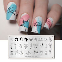 BORN PRETTY Stamping Plates Stainless Steel Nail Art Stamp Stencil Artist L004