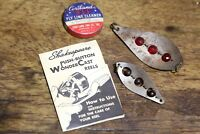 Vintage Fishing Shakespeare Reel Booklet Fly Line Can Spark L Wobbler Lure
