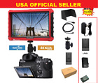 """LILLIPUT 7"""" Model A7s 4K HDMI 1.4 30Hz Field Monitor W/LP-E6 Battery  Charger"""