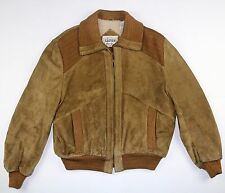Vintage 70s 80s Genuine Leather Suede Jacket Size 44 - motorcycle M / L skate op