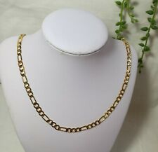 chain necklace 55cm(22inches), 6mm 24K gold plated/filled men figaro