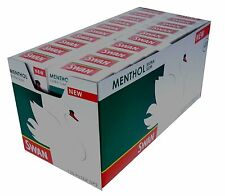 CHEAPEST  NEW HALF BOX 10 X 120 SWAN MENTHOL EXTRA SLIM  Cigarette Filter Tips
