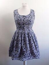 Jack Wills Sleeveless Farelly Dress Blue Size UK 12 RRP £59 Box46 64 H