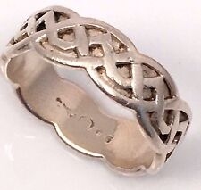Sterling Silver Marked .925 Signed Geometric Scoop Deign Size 8 Band In Gift Box