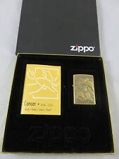 Zippo Cancer Zodiac Messing Nr. 254 BBS SMYTHE BRASS LIGHTER NEU OVP Selten RARE