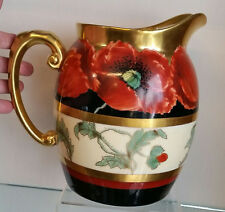 GORGEOUS PICKARD T & V ARTIST SIGNED POPPY HAND PAINTED PITCHER C-1898