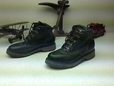 GREEN LEATHER MADE IN USA JOHN DEER LACE UP CHUKKA WORK FARM CHORE BOOTS SIZE 8M