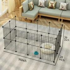 New listing 32 X Metal Panels Small Dog Cat Pets Playpen Wire Yard Crate Portable Fence