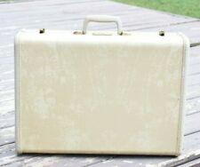 Vintage SAMSONITE White Large Suitcase STREAMLITE Luggage 1960's retro HARDSHELL