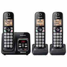 3-Handset Phone Bundle Panasonic KX-TG833 DECT 6.0 Bluetooth