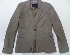Banana Republic Women's Stretch Wool One Button Taupe Blazer Jacket Sz 2 Classic