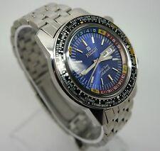 Ricoh World Timer Automatic Blue Dial  21 Jewels Swiss Man,s watch (gread Cond)