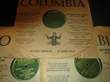 78RPM 3 Columbia by A Kostelanetz, Dancing Dark, Begin Beguine, All Things UR V